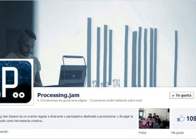 Processing Jam Session Sevilla live music interactive video and generative soul